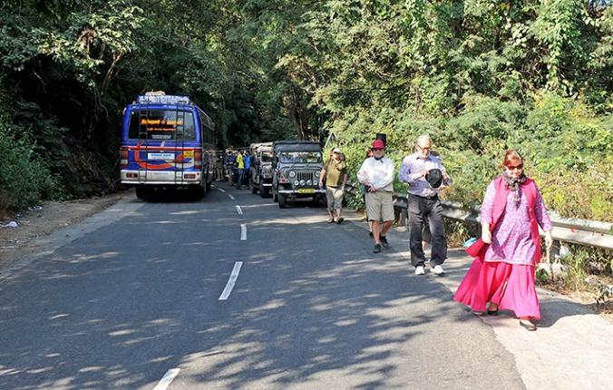 Lite kaos får man räkna med i den indiska trafiken.