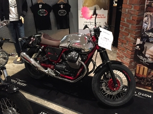 En kaxig Moto Guzzi. Ser riktigt spännande ut och ska provköras till våren.