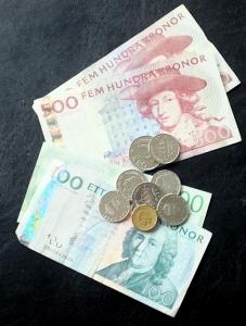Besvärligt betalmedel i Sverige.